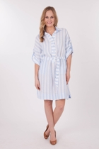 Hammock & Vine Stripe Linen Shirt Dress