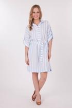 Hammock & Vine Stripe Linen Shirt Dress