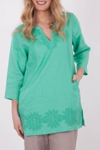 Marco Polo Embroided 3/4 Slv Kaftan