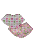 Annabel Trends Kids Girls Little Trends Adj Bandana Bibs 2 Pack