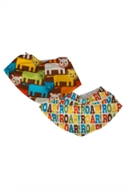 Annabel Trends Kids Boys Little Trends Adj Bandana Bibs 2 Pack