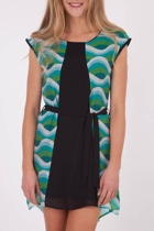 Green Wave Tunic Dress