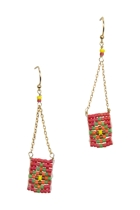 Beaded Fine Chain Earrings