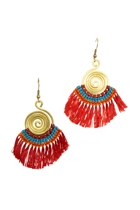 Fringe & Brass Spiral Earrings