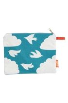 Clouds Cotton Zip Pouch