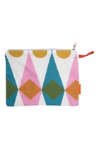 Diamonds Cotton Zip Pouch