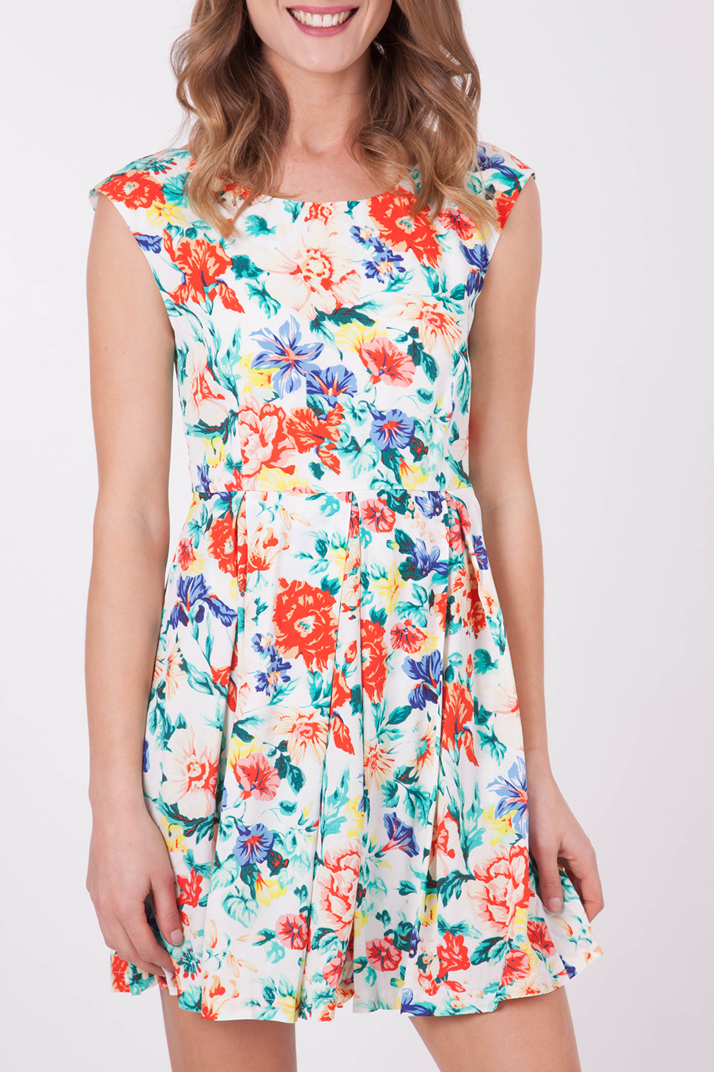 Mink Pink Acid Floral Woven Dress