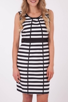 Ping Pong Striped S/Less Dress