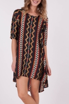 Indy C Aztec Tee Dress