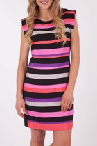 Gitane Spectrum Ribbon Shift Dress