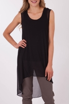 Threadz Georgette Layering Long Tunic
