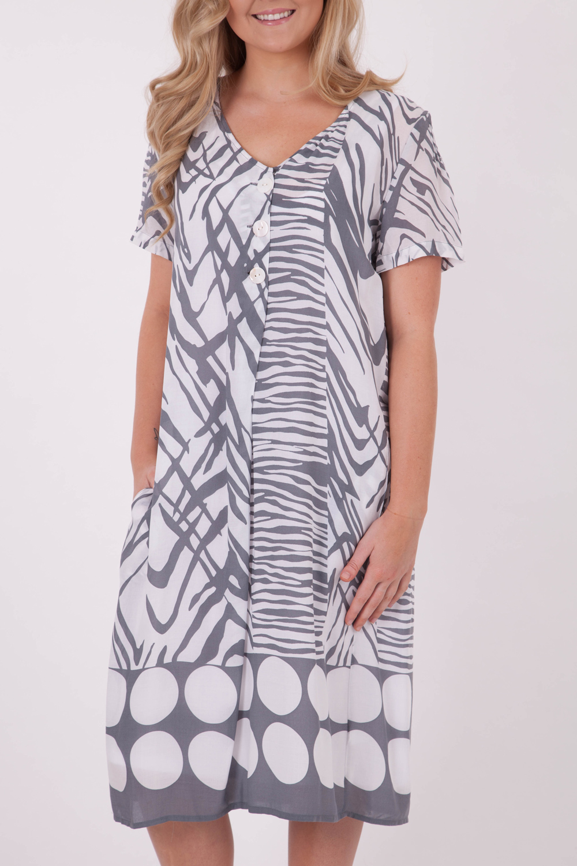 Gordon Smith Spotted Animal Print Dress