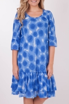 Cotton Voile Frilled Hem Dress