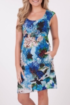 Ping Pong Floral S/Less Dress