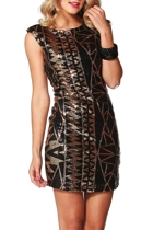 Blaze Of Glory Sequin Dress