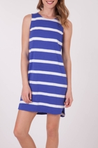 Stripe Shift S/L Dress