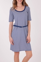 Stripe Belted S/S Dress