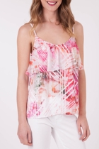 Geo Rose Frill Top