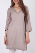 Nest Picks Cotton Kaftan With Rice Stitching