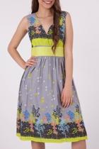 Gitane Thyme Cotton Empire Dress