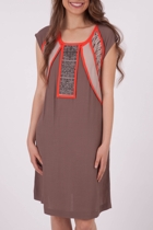 Gitane Oriental Beaded Panel Shift Dress