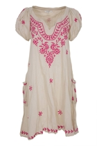 Sao Paulo Embroidered V-Neck Dress