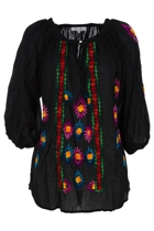 Oregan Embroidered Top