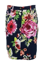 Carly Tropicana Print Skirt