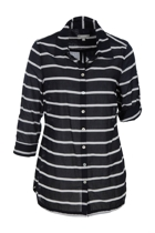 Stripe 3/4 Slv Shirt