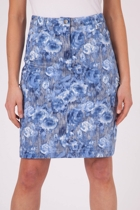 Alice Sea Treasure Print Skirt