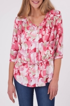 Full Bloom Linen Top