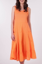 Spot Layered Dress