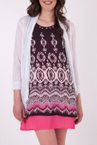 Clarity By Threadz Mesh Cardigan