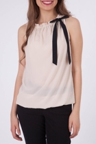 Esprit Collection Soft Touch Bow Neck Top