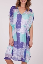 Yarra Trail Pleat Print Dress with Slip