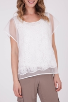 Boo Radley Transparent Flowers Top