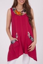 Orientique Euphoric Floral Trim Tunic