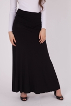 Long Folded Band Skirt