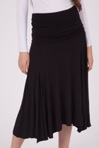Godet Folded Band Skirt