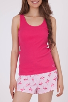 Flamingo Heart Singlet & Short PJ Set