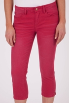 Colour Stretch Denim Capri Pant