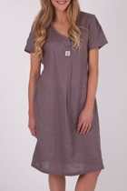 101 Linen Lace Trim Dress