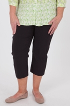 Stretch Capri With Leg Seam
