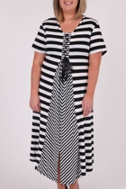 Elle Stripe Splice Dress