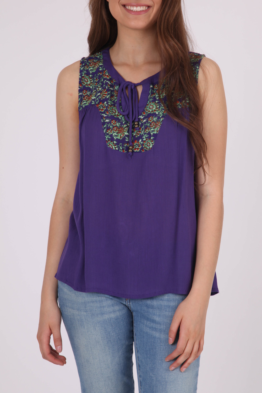 Mink Pink Vintage Paisley Woven Top