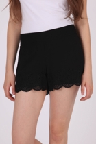Boho Scalloped Short