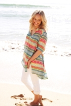 Allora Ethnic Stripe Tunic