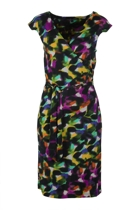 Zibo Bokeh Wrap Dress