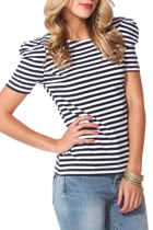In The Navy Stripe Tee