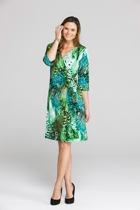 3/4 Sleeve Cross Over Dress